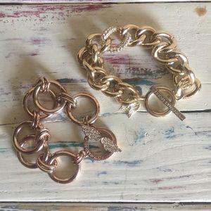 Victoria's Secret Bracelet Bundle Gold